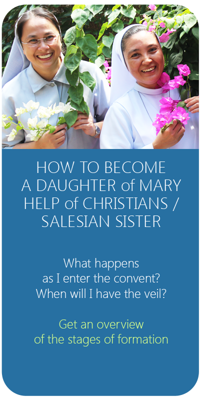 be a salesian sister - fmafil icon - stages of formation