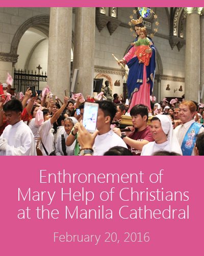 gallery images - enthronement of MHC - fma philippines