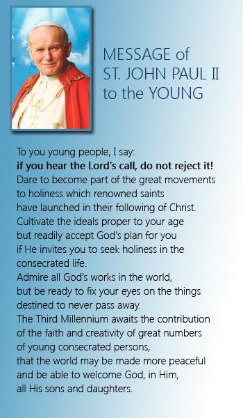 join us - discernment -JPII - fmafil